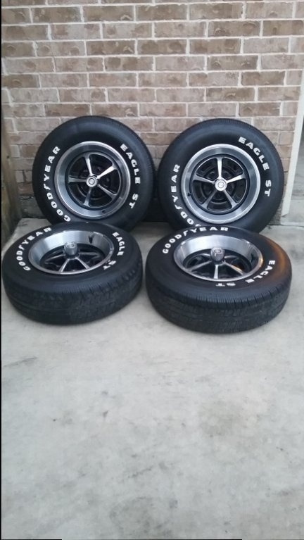 """FOR SALE - 14"""" Magnum wheels with Goodyear Eagle ST Tires ..."""
