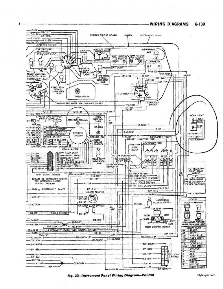 horn relay 70 roadrunner for b bodies only classic mopar forum mopar 383 wiring diagram at n-0.co