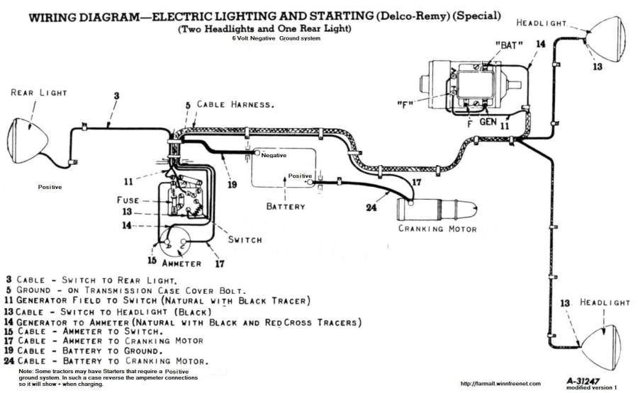 wiring diagram for farmall 460 wiring diagram for farmall h who's good at 6v farmalls? | for b bodies only classic ...