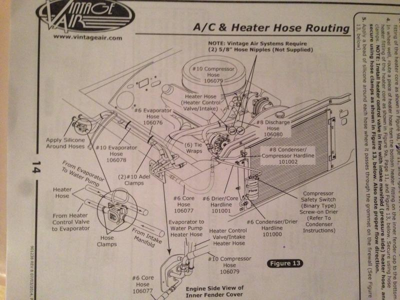 Vintage Air A C Hose Routing Through Firewall Instead Of