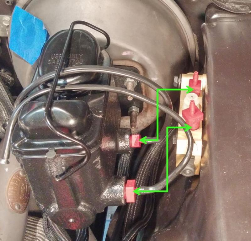 How Do You Bleed Brakes >> Master Cylinder-to-Proportioning Valve Line Routing? | For B Bodies Only Classic Mopar Forum