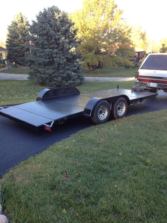 Sold 18 Open Steel Deck Car Trailer For B Bodies Only Classic
