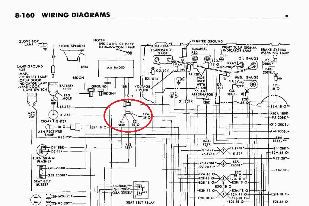 instrument cluster wiring diagram 1974 plymouth gtx   51