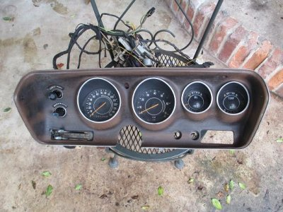 sold 1971 charger r t road runner rallye instrument cluster with tach and wiring for b. Black Bedroom Furniture Sets. Home Design Ideas