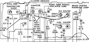 1972 Plymouth Satellite factory wiring diagram note For