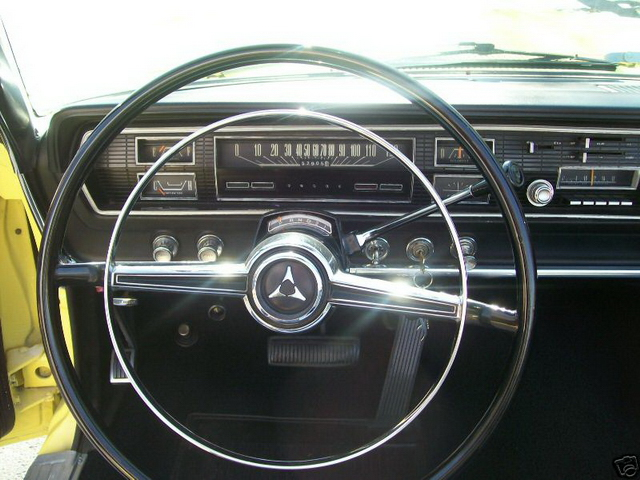 1966 Coronet convertible - dash and steering wheel.jpg