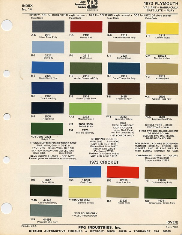 1973 RR colors ? | For B Bodies Only Classic Mopar Forum
