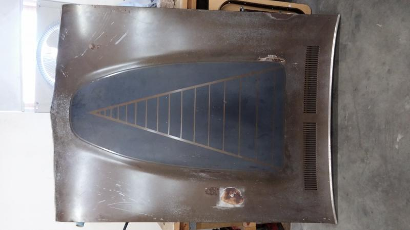Sold 71 74 Dodge Charger Power Bulge Hood For B Bodies
