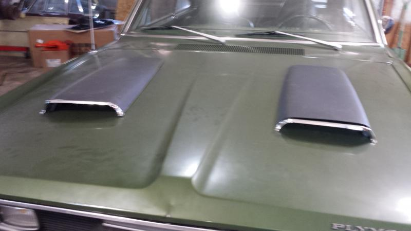 Sold Twin Hood Scoops For B Bodies Only Classic Mopar Forum