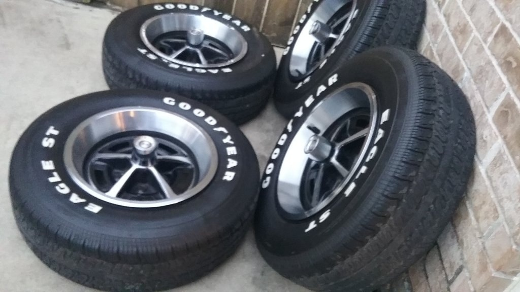 "FOR SALE - 14"" Magnum wheels with Goodyear Eagle ST Tires ..."