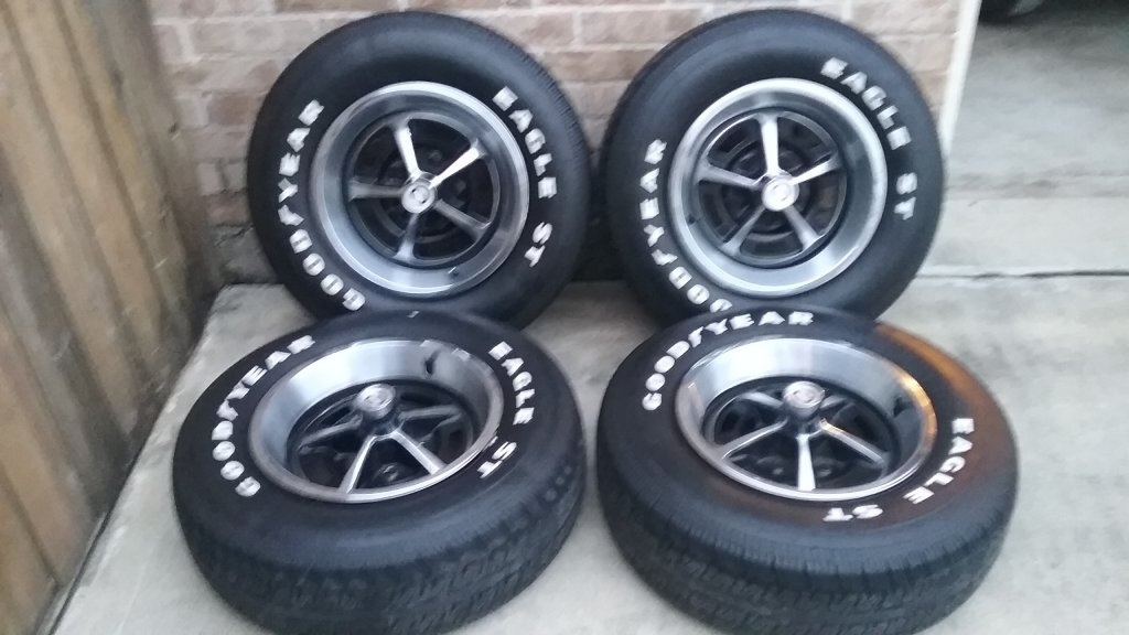 "Magnum 500 Wheels >> FOR SALE - 14"" Magnum wheels with Goodyear Eagle ST Tires 