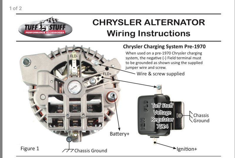 Chrysler One Wire Alternator Conversion Diagram | Wiring Diagram