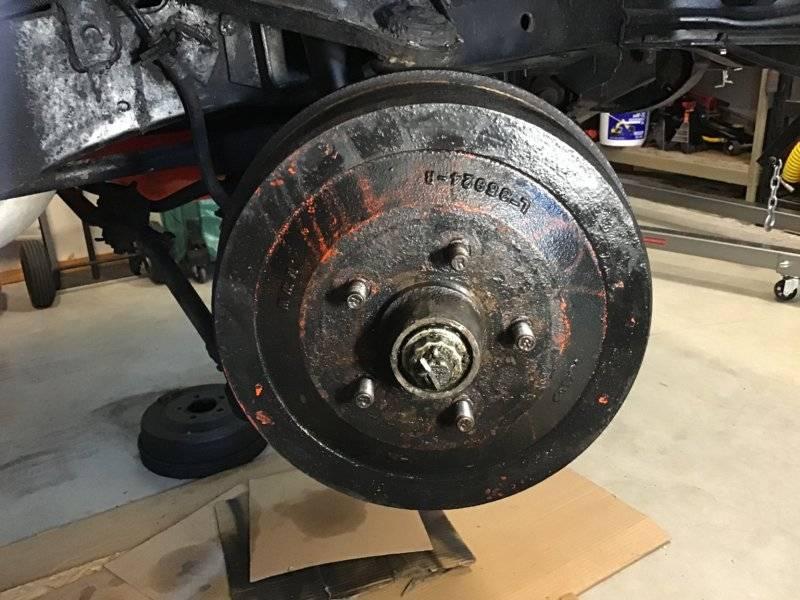 Stuck front brake drum | For B Bodies Only Classic Mopar Forum