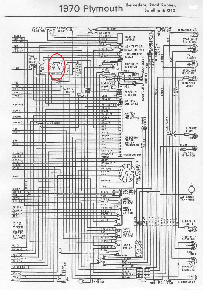 Plymouth Radio Wiring Diagram : Buzzer diode for b bodies only classic mopar forum
