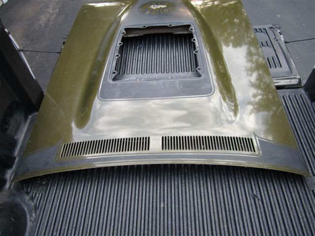 1971 Charger Bulge Hood With Louver Insert For B Bodies