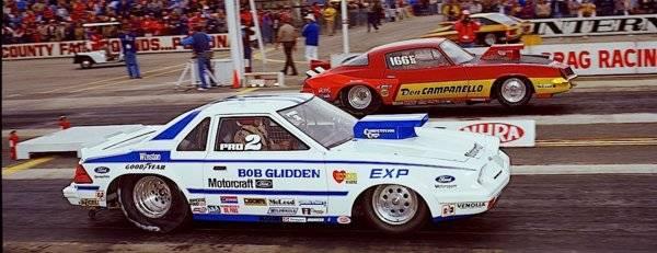 82 EXP PS Bob Glidden Motorcraft car & 82 Camaro PS Don Camanello Pomona 1982.jpg