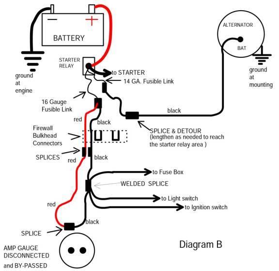 Ammeter Wiring Diagram Car - Wiring Info •