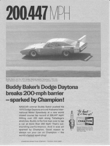 buddy baker 200 mph 1969 dodge charger daytona chrysler engineering #88 200.447.jpg