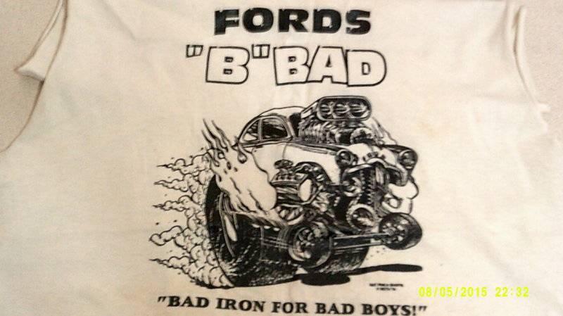 Budnicks 49 Ford Pro-Gas Hemi Ed Big Daddy Roth tee shirt #1.JPG