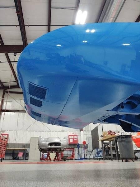 DC-93 nascar dodge daytona under nose all flush to K member.JPG