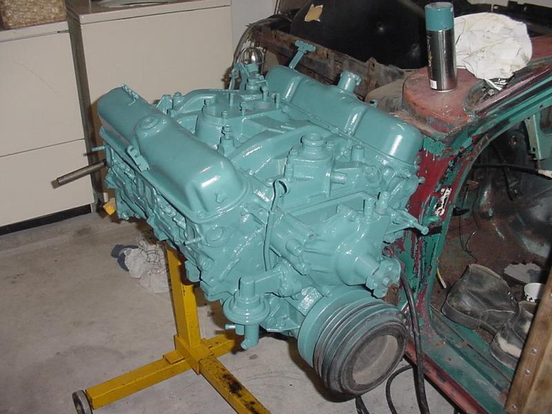 Mopar Turquoise Engine Paint Code