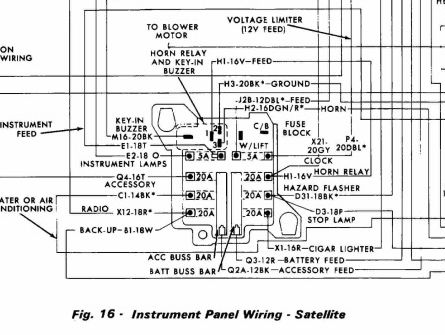 1973 satellite horn relay electrical ignition