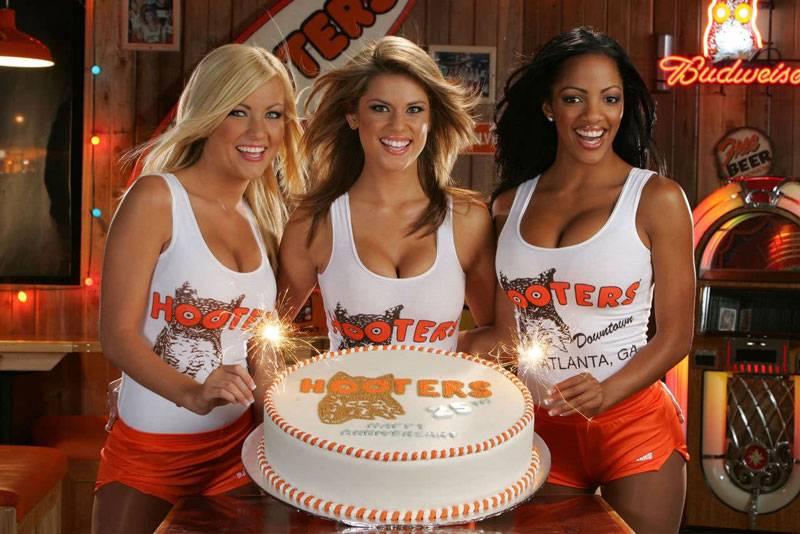 Happy Birthday Babe Hooters Girls & Cake.jpg