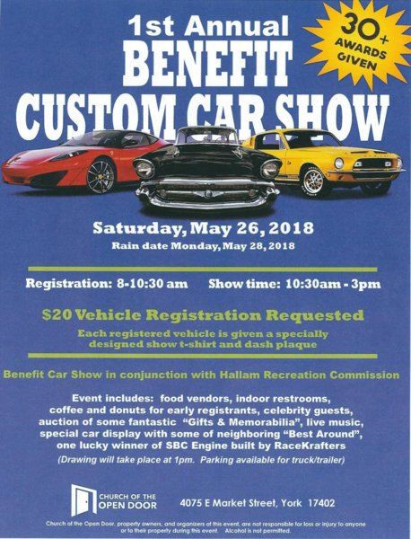 St Annual Benefit Car Show York PA For B Bodies Only - Car show york pa