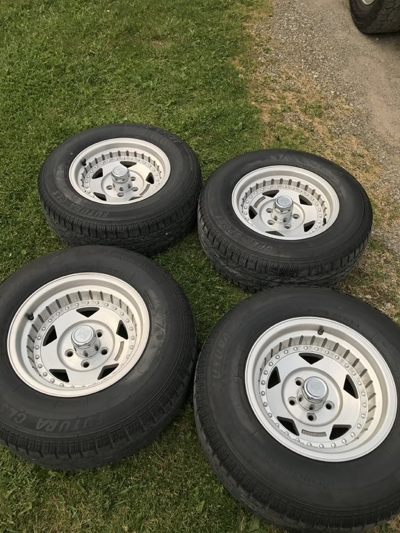 Wheels Are In Excellent Shape Tires Have 75 Percent Tread Left Like New Barely Used Come With Lugs All Right Handed Will Fit Any B Body