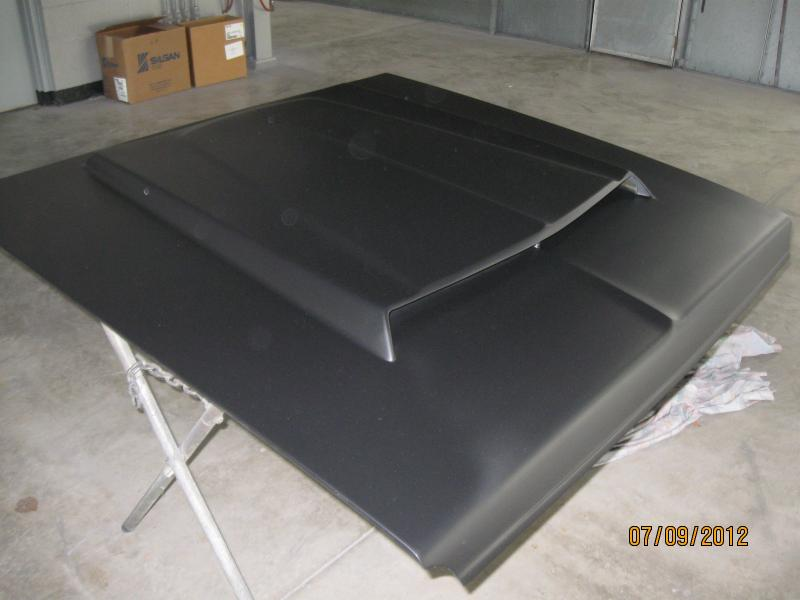 One Car Garage Size >> SOLD - HEMI style fiberglass hood | For B Bodies Only Classic Mopar Forum