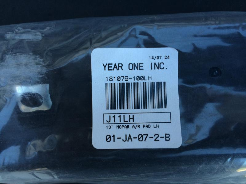 Sold Year One J11lh Black Left Arm Rest New In Package Charger