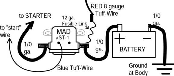 trunk mount battery mad electrical