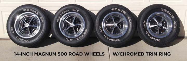Magnum 500 Wheels >> SOLD - 14-inch MAGNUM 500 ROAD WHEELs w/Chromed trim ring ...