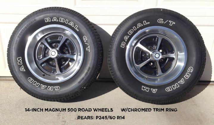 Sold 14 Inch Magnum 500 Road Wheels W Chromed Trim Ring
