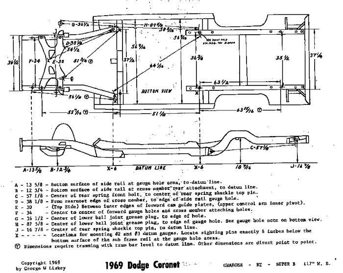 Mopar 68-69-70 Frame specs dimensions  Charger 117in WB RR 116in Wheel Base cars #1.jpg