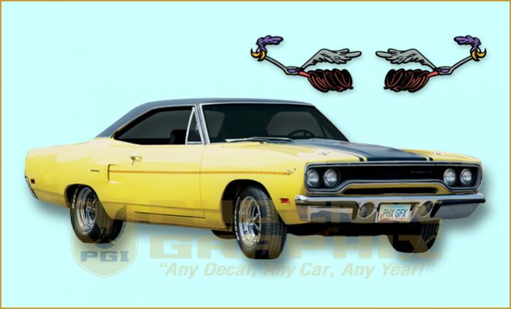 the 1970 road runner decal  u0026 stripe kit from phoenix