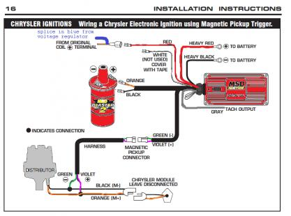 MSD Ignition Question On Road Runner With For B Bodies Only - Msd 6al wiring diagram