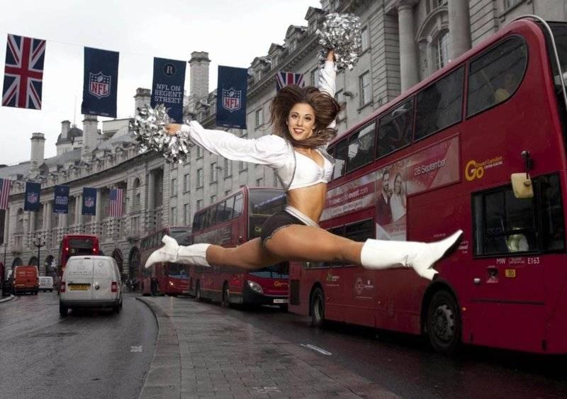 Oakland Raiders Raiderette cheerleader Michelle in London.jpg