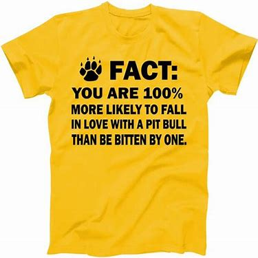 Tee-shirt Fall in love with a Pitbull than bitten by 1.jpg