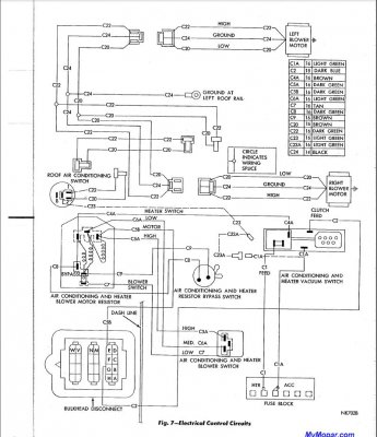 Wiring Diagram For Factory A C Car For B Bodies Only Classic Mopar Forum