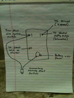 want to do away with stock starter relay for b bodies onlySt85 Solenoid Wiring Diagram #21