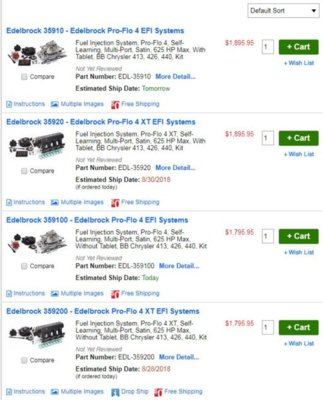 Pro Flo 4  Edelbrock | Page 2 | For B Bodies Only Classic